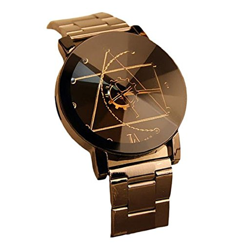 Ularmo Fashion Stainless Steel Man Quartz Analog Wrist Watch