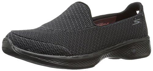 Skechers Go Walk 4, Entrenadores para Mujer Negro (Black/grey)