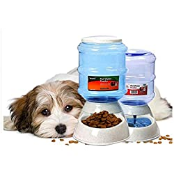 Pet Feeding Liquid Automatic Cat Feeder and Water Dispenser Set, Automatic Food Dispenser with Timer for Small Large Dog Puppy Kitten Large Capacity