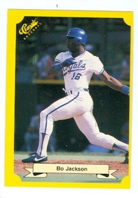 Bo Jackson Baseball Card Kansas City Royals Bo Knows 1986