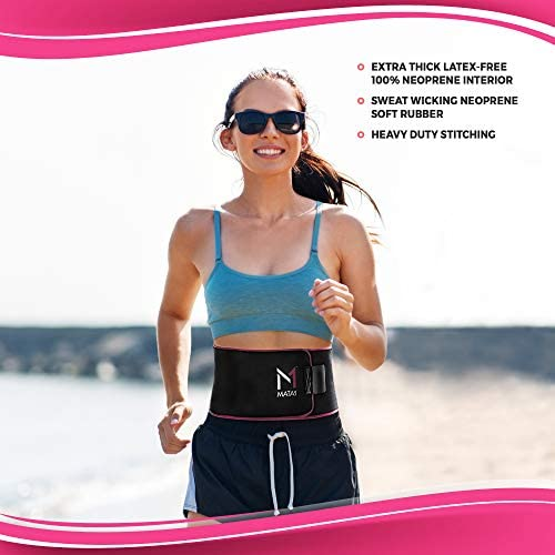 Mata1 Waist Trimmer Belt with a Free Bag Included, Thin Body Sweat Wrap, Weight Loss Enhancing Belt for Men and for Women, Excellent Back Support Promoting Posture Improvement 4