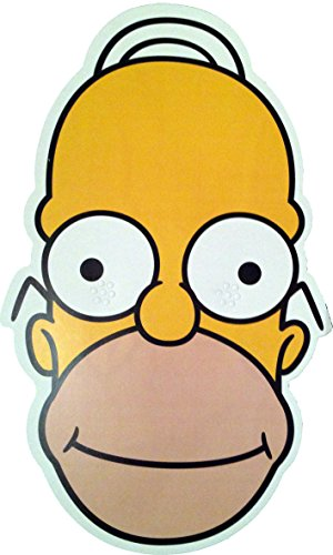 The Simpsons - Homer - Card Face Mask - Licensed -