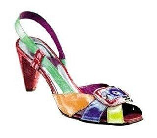 cuero Multicolore Unbekannt Sandalias Multicolore Sandalette Mujer de Vestir multicolor de qwfUB1X