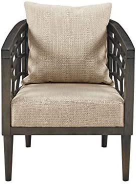INK IVY Crackle Accent Chair, 27 W x 29 D x 32.5 H, Tan