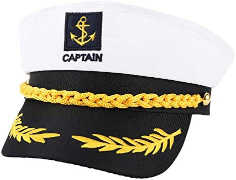 You&Lemon Sombrero de Capitán Marinero de Navío de Tamaño Único ...