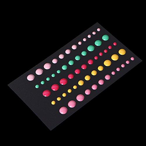 Dabixx 1Piece Enamel Dots Resin Self-adhesive Sticker for Scrapbooking DIY Crafts Sticky 13x8.3cm/5.12