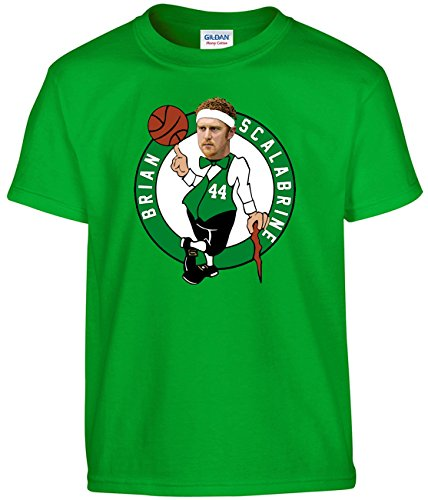 Shedd Shirts Green Brian Scalabrine Boston Logo T-Shirt Youth - Paul Pierce Youth Jersey
