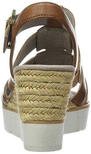 Gabor Shoes Fashion, Sandalias con Cuña para Mujer Marrón (peanut 24)