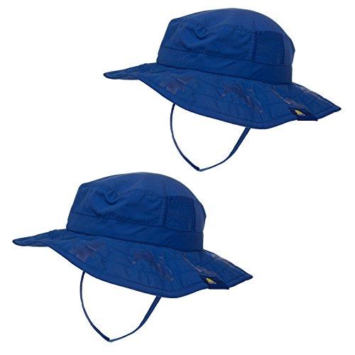 2pk Kids Safari Hat Sun Protective Zone UPF 50+ Child Block UV Rays Shade 938151 Blue Boys Fits most children ages 3-10