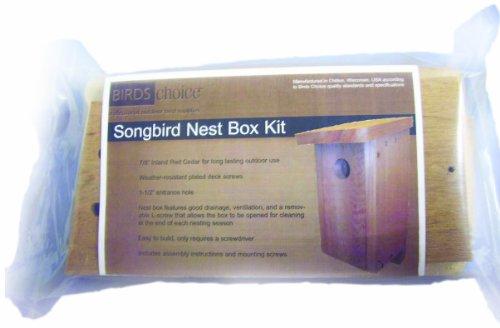 - Birds Choice Songbird Nest Box Kit Unassembled
