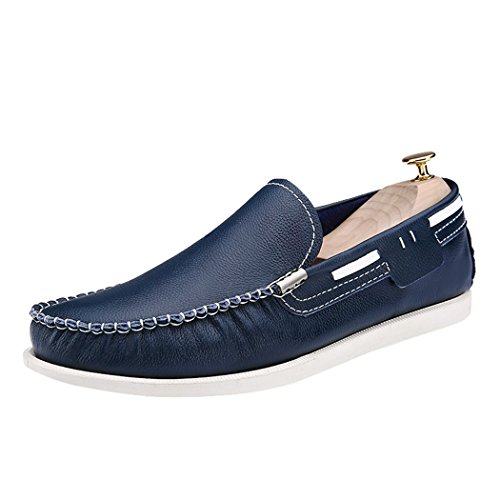 Mocassini Slip-on Casual Da Uomo Moda Casual Da Uomo In Pelle Scamosciata Blu Scuro