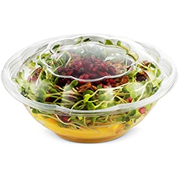 Amazon.com: 50 Pack Clear Plastic Disposable Salad