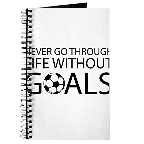 CafePress Life Goals Soccer Spiral Bound Journal Notebook, Personal Diary, Dot Grid