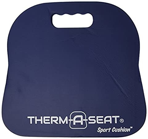 NEP Outdoors Therm-a-Seat Sport Cushion Sporting Event Seat Pad, Navy - Sports And Outdoors