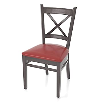 ggm gastro bois weng cuir rouge chaise bistrot - Chaise Bistrot Rouge