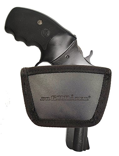 Small Arms Belt Holster - Garrison Grip Leather Inside and Outside Waistband Easy Slide Holster Fits Charter Arms Revolver (SLH) Black