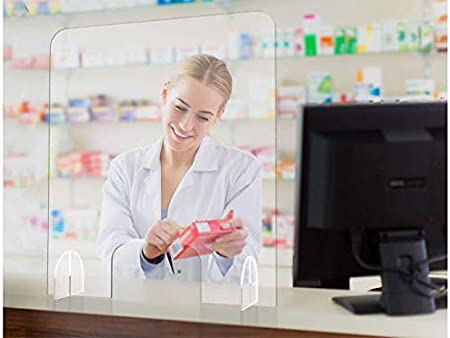 Oedim Mampara de Metacrilato de 4mm | 66x75cm | Pantalla de protección para Bancos, Supermercados, Notarias, Estancos, Farmacias, Clínicas y Dentistas: Amazon.es: Hogar