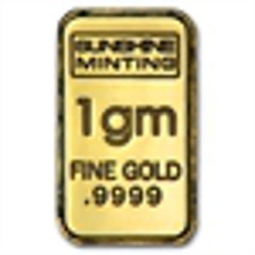 1 G 9999 Fine Gold Bar Ingot Sunshine Mint   1 Gram Ira Approved