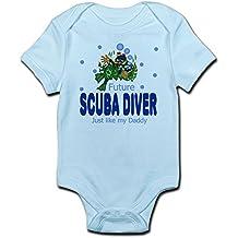 CafePress Future Scuba Diver Like Daddy Baby Infant Bodysuit - Cute Infant Bodysuit Baby Romper