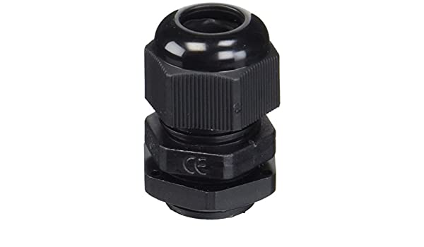 10PCS PG11 18, 6 mm 5-10 mm Hilo Negro plástico impermeable glándulas de cable - - Amazon.com