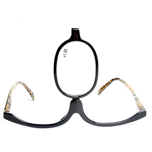 for Organizer Beauty Glasses Maquillage Glasses Black Mirror Zhhlaixing Makeup facile Glass Women Reading IzPqw6x