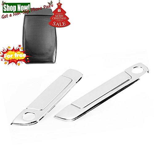 Triple Chrome Door Handle Cover Moulding Trims for BMW 92-99 E36 3-Series 2DR 88-96 E34 5-Series 2 DR 89-94 E32 7-Series 2DR 96-02 Z3 Roadster / M Coupe /M Roadster Brand