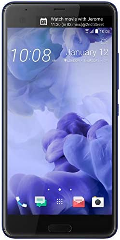 HTC U Ultra 64GB Unlocked GSM Android 7.0 with HTC Sense Smartphone Sapphire Blue (Dual-Display | 16MP+12MP Cameras | 3D Audio) (Renewed) WeeklyReviewer