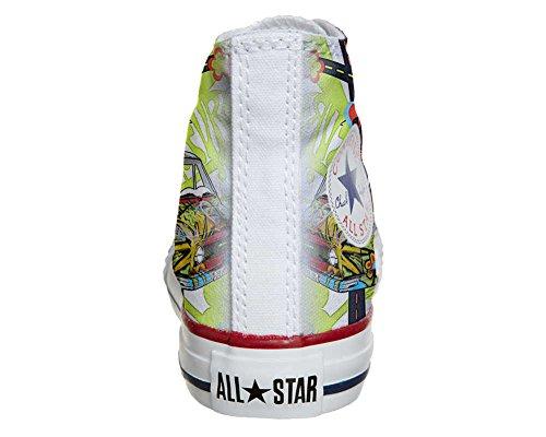 CONVERSE personalizzate All Star Sneaker unisex (Prodotto Artigianale) Peace and Love
