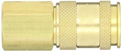 "Dixon Valve UDC2023 Brass Air Chief Universal Quick-Connect Air Hose Socket, 1/4"" Coupler x 3/8"" NPT Female Thread, 37 CFM Flow Rating"