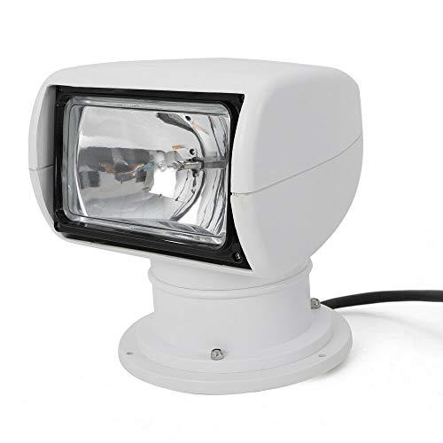 BSTOOL Boat Spotlights, 100W Marine Boat Remote Control Halogen Searchlight Spotlight Searchlight Bulb Flux 2500LM 12V review