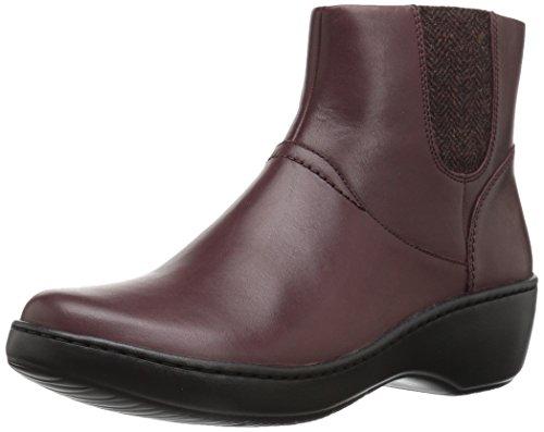 CLARKS Women's Delana Joleen Boot, Burgundy Leather, 6.5 M (Burgundy Leather Boot)