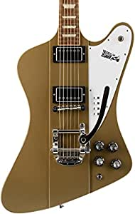 Gibson USA DSFEGPCB1 Elliot Easton Firebird Solid-Body Electric Guitar - Gold Heather poly