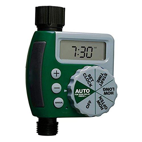 AUWU Outdoor Garden Irrigation Controller Solenoid Valve Timer Single Outlet Programmable Hose Faucet Timer