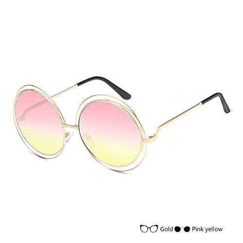 Señor De Gafas Gafas Sol Sol L TIANLIANG04 Del De Oval Redondas Gafas K Lujo De Vintage Mujer Negro qSv0A