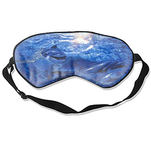 Sleep Mask, Blindfold Super Smooth Eye Mask Dolphin Eye Cover for Women Men Comfort Deep Eye Masks Best Lightweight Night Eyeshade Blinder Travel Airplane (Dolphin)