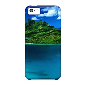 New PFMtZ6522YGbJH Aerial View Of Bora Bora French Polynesia Skin Case Cover Shatterproof Case For Iphone 5c
