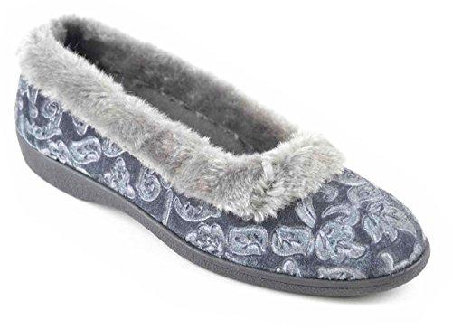 Socks Uwear®  SlumberzZ,  Damen Hausschuhe Grau