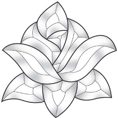 - Stained Glass Supplies Rose Bevel Cluster EC561