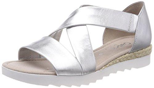 Gabor Mujer Silber Comfort Shoes para Pulsera Sandalia Jute Multicolor con Sport r0rgqpw
