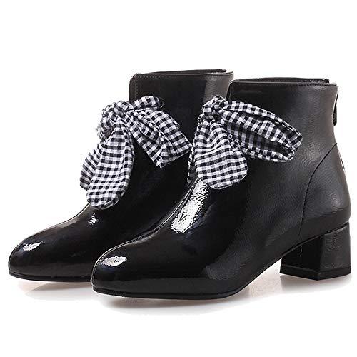 Black Women Boots Melady Ankle Fashion Shoes Autumn Zipper x0dnwZ8Tq