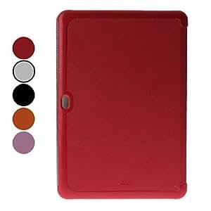 compra Patrón microsurco PU Funda de cuero con soporte y para Samsung Galaxy Tab P7510 (colores surtidos) , Blanco