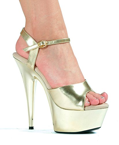 in China cheap price Ellie Shoes Women's 609-CHROME Platform Sandal Gold/Gold Chrome sneakernews cheap price yfrguPo5