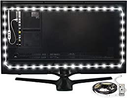 """Luminoodle Color Computer Monitor Backlight - 15 Color Bias Lighting with Remote - 3.3 ft for Monitors up to 24"""" - LED..."""