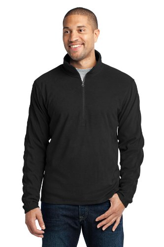 Port Authority Men's Microfleece 1/2 Zip Pullover XL Black ()