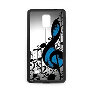 DANGDANG Clef Music Shell Phone for samsung galaxy note4 Black Cover Phone Case [Pattern-6]