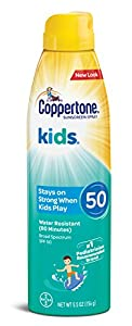 Coppertone KIDS Sunscreen Continuous Spray SPF 50 (5.5-Ounce, Pack of 3)