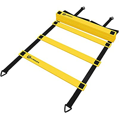 Agility Ladder Speed Training Ladder with Carry Bag, U-POWEX Speed Training Equipment for Football, Soccer, Coordination, Footwork