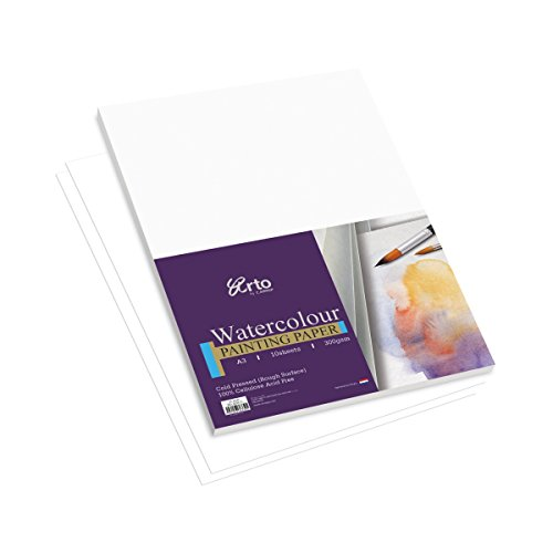 Campap ARTO 300 GSM Cellulose Watercolor A3 size Painting Paper   10 sheets