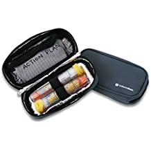 Medical Travel Insulated Organizer for Allergy medications like Epipens, Inhalers, Asthma & more | Maintains Temperature of Medication | Epipen Case INSULATED (Medium - No Panels, Gray)