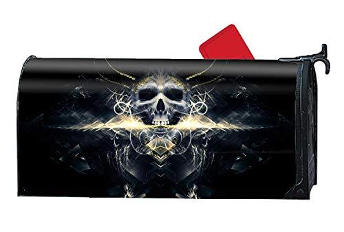 Michael Trollpoe Golden Firelight Skull Mailbox Cover - Mailbox Makeover - Magnetic Cover 9